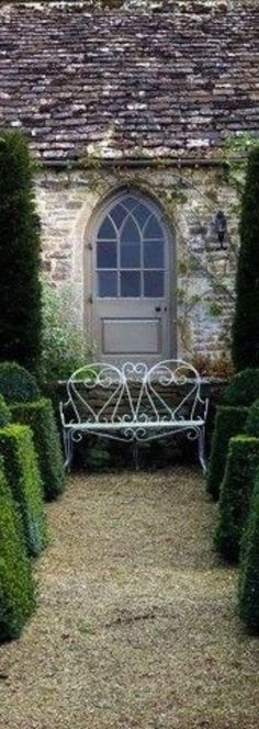 English Village, French Property, Topiary, Pergola, Relax, Farmhouse, Exterior, Cabin, House Styles