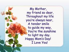 Happy mothers day messages, Wishes, Poems, Quotes http://www.techoxe.com/2017/05/mothers-day-messages.html