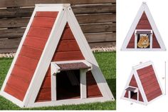 fc562dcc95d7 Home Outdoor Ground Wood Dog House Pet Shelter Cat Kennel Weather Resistant   HomeOutdoorGround Σπιτάκια Σκύλων