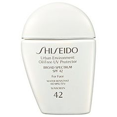 Shiseido - Urban Environment Oil-Free UV Protector Broad Spectrum SPF 42 For Face  #sephora: <3 I got it for free when I bought the the Face one. I use this in my travel kit. <3 both.