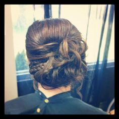 Long hair formal hairstyle. Braids and curls Wedding, Prom, Flower Girl, Formal Updo https://www.facebook.com/alltressedup.stephanie