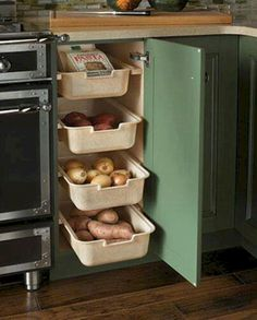 100 smart kitchen organization ideas for first apartment (67)