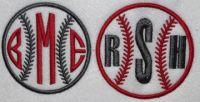 Baseball Softball Embroidery Monogram Frame | Apex Embroidery Designs, Monogram Fonts & Alphabets