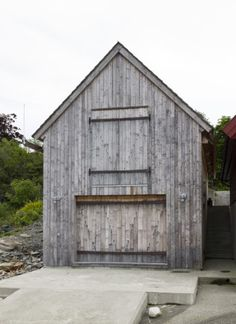 Wooden House Design, Boat House, Habitats, Maine, Shed, Cottage, Outdoor Structures, Architecture, Building