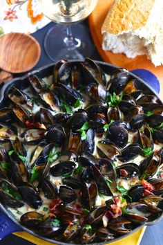 Mussels Rockefeller. A rich smoky mussels appetizer that works equally well as an entree. Tons of flavor and very little work.