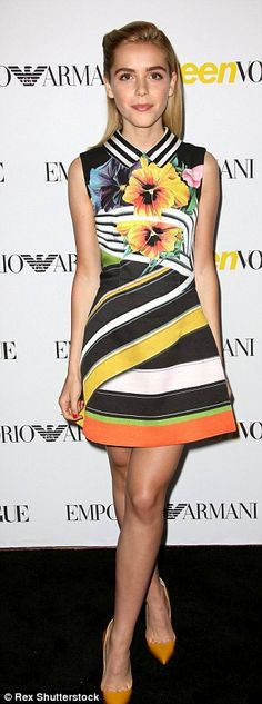 Style stars: Sarah Hyland and Kiernan Shipka helped Teen Vogue celebrate its Young Hollywo...
