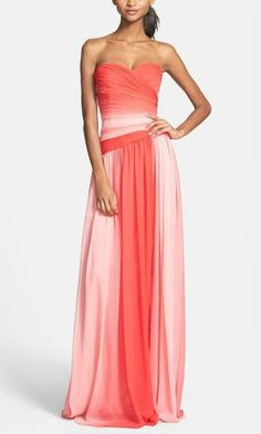 Perfect for prom! Ombré chiffon gown