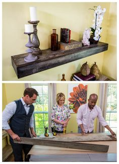 Use reclaimed wood to create a mantle piece or shelf! @kennethwingard breaks it down into simple steps! Catch #homeandfamily weekdays at 10/9c on Hallmark Channel!