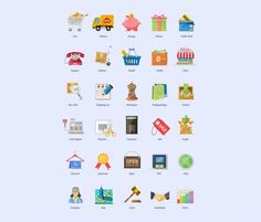 Buy Charming Boutique Icon Set by PixelKitcom on GraphicRiver. These shopping icons will be a great companion to your eCommerce website or commercial online store. Website Icons, Website Themes, Shop Icon, Icon Set, Videos Fun, Template Web, Clipart Design, Vector Design, Pictogram