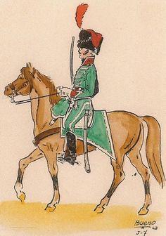 Cazadores de Madrid 1811 Oficial