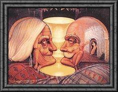 #Profili e #illusioniottiche: voi qua cosa vedete? Due anziani oppure.........?