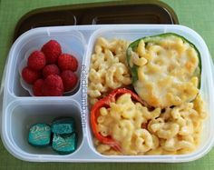 Lunch for teen - mac & cheese stuffed peppers
