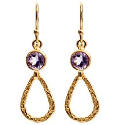 Athena Earring with Amethyst