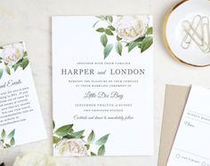 Printable Wedding Invitation Template  Mint Type  Word or