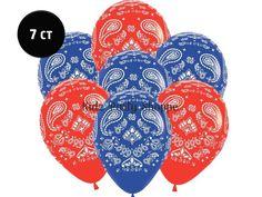 "Bandana Print Balloons [7ct] - 11"" Latex"