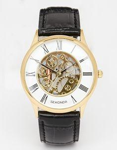 2469830137 Sekonda Leather Strap Watch Mechanical Detail 3426.27