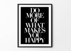 Do More inspirational poster, life motto, wall decor, mottos, graphic art, happy words, gift idea, inspiration, life quote, typography art