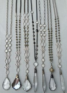 Vintage crystal and gemstone necklaces. Email lisajilljewelry@gmail.com for wholesale and retail info.