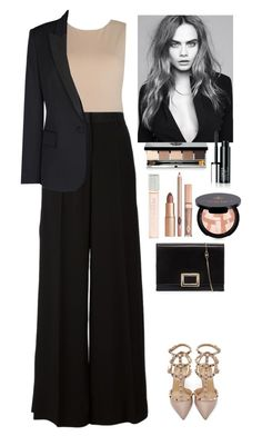 """Outfit"" by eliza-redkina ❤ liked on Polyvore featuring Alice + Olivia, Roberto Cavalli, STELLA McCARTNEY, Valentino, Anastasia Beverly Hills, Bobbi Brown Cosmetics, Torrid, Roger Vivier, StreetStyle and outfit"