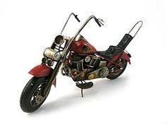 Metal Red Chopper Motorcycle - $62.49