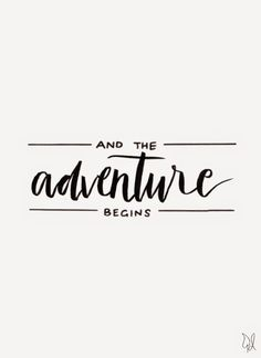 And the adventure begins. / Original Canvas / Lettering by The Happy Candle / Di… And the adventure begins. / Original Canvas / Lettering by The Happy Candle / Dian Words Quotes, Me Quotes, Motivational Quotes, Inspirational Quotes, Sayings, Nature Quotes, Family Quotes, Citation Force, Image Citation