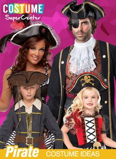 Check out all costumes, we have all of the hottest and most popular licensed costumes for the whole family! Pirate Costume Accessories, Pirate Fancy Dress, Popular Halloween Costumes, Horse Costumes, Pirate Life, Pirate Birthday, Costume Ideas, Pirates, Captain Hat