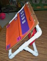 DIY PVC Pipe Flip Chart Rack/Big Book Stand