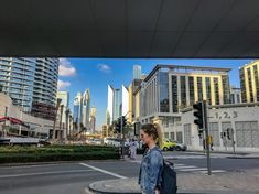 One of my fav pic! I just love that blue sky and modern buildings contrast. Top Place, Modern Buildings, Dubai, Contrast, Street View, Sky, Places, Blue, Heaven
