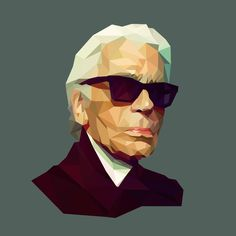 Karl Lagerfeld - Low Poly Portrait  See you more: https://www.behance.net/gallery/21332737/Low-Poly-Portrait
