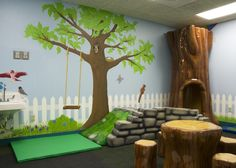 Kentucky Children's Hospital - soft toddler play room.