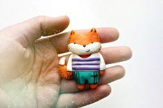 "Brooch of polymer clay ""Fox"" by StudioTort on Etsy"