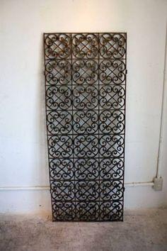 アンティークアイアンゲート 門扉ゴシックインテリアに Antique iron gate ¥58000yen 〆04月04日