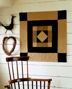 Little Welsh Quilts-this would make a really nice barn quilt Patchwork Quilting, Hand Quilting, Amish Quilts, Barn Quilts, Sampler Quilts, Quilting Projects, Quilting Designs, Quilt Design, Hm Deco