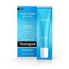 Neutrogena Hydro Boost Hydrating Gel Eye Cream with Hyaluronic Acid, Dermatologist Recommended, Oil and Fragrance Free, fl. oz by Neutrogena Avon Products, Eye Products, Beauty Products, Beauty Regimen, Best Drugstore Eye Cream, Drugstore Beauty, Kim Kardashian, Hydrating Eye Cream, Hydrating Serum