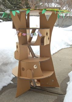 Cardboard tree doll house                                                                                                                                                                                 More