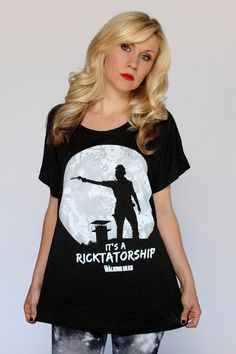 Her Universe's Geek Girl The Walking Dead Clothing Line: Ricktatorship t-shirt