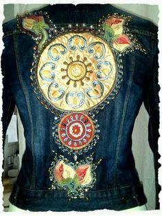 Inspiration for fabric applique on denim