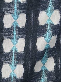 dark blue-gray + white + robins egg blue; House of Fabric - Zelle Costeau