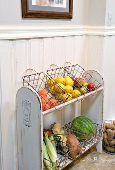 nice Turn a Blanket Rack into a Farmhouse Vegetable Stand by http://www.tophome-decorationsideas.space/kitchen-decor-designs/turn-a-blanket-rack-into-a-farmhouse-vegetable-stand/