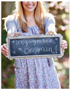 """Engagement announcement sign 2. Mine would say """"I'm going to be a QUEEN."""" I've always wanted to be a Queen...lol"""