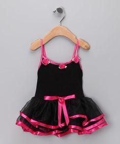 Look what I found on #zulily! Black & Pink Skirted Leotard - Infant #zulilyfinds