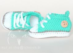 Baby Chucks Schuhe gehäkelt, crochet