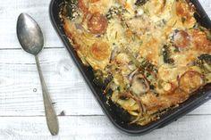 5 or less: Een ovenschotel met zoete aardappel en parmezaanse kaas. Lekker makkelijk èn weinig afwas. #5orless #recept