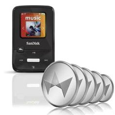 SanDisk Sansa Clip Zip 4GB MP3 Player & 50 TCredits Auction