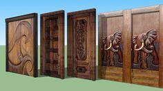 Modelos de puertas exteriores en madera con modelados