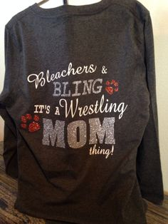 Wrestling Mom Tshirt by TripleMEmbroidery on Etsy, $30.00