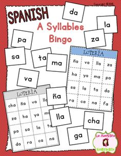 A Syllable Bingo: Help your students break the syllable code with this fun loteria-style game. $