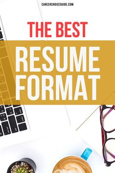 Choosing an effective resume design that highlights your top skills can be confusing. But there is one best resume format that works well for most job seekers most of the time. If you're not sure how to design your resume, try this reliable resume format. #resumes #careerchoiceguide Best Resume Format, Resume Layout, Resume Tips, Resume Writing, Resume Design, Cover Letter Tips, Writing A Cover Letter, Cover Letters, Career Choices