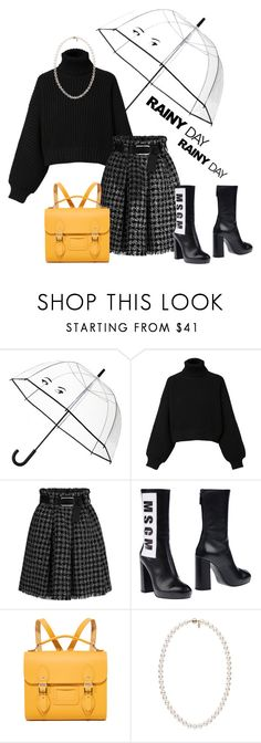 """Rain Rain, Go Away"" by gldlynch ❤ liked on Polyvore featuring Kate Spade, Diesel, MSGM and The Cambridge Satchel Company"