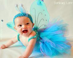 Purple and turquoise Baby Tutu set
